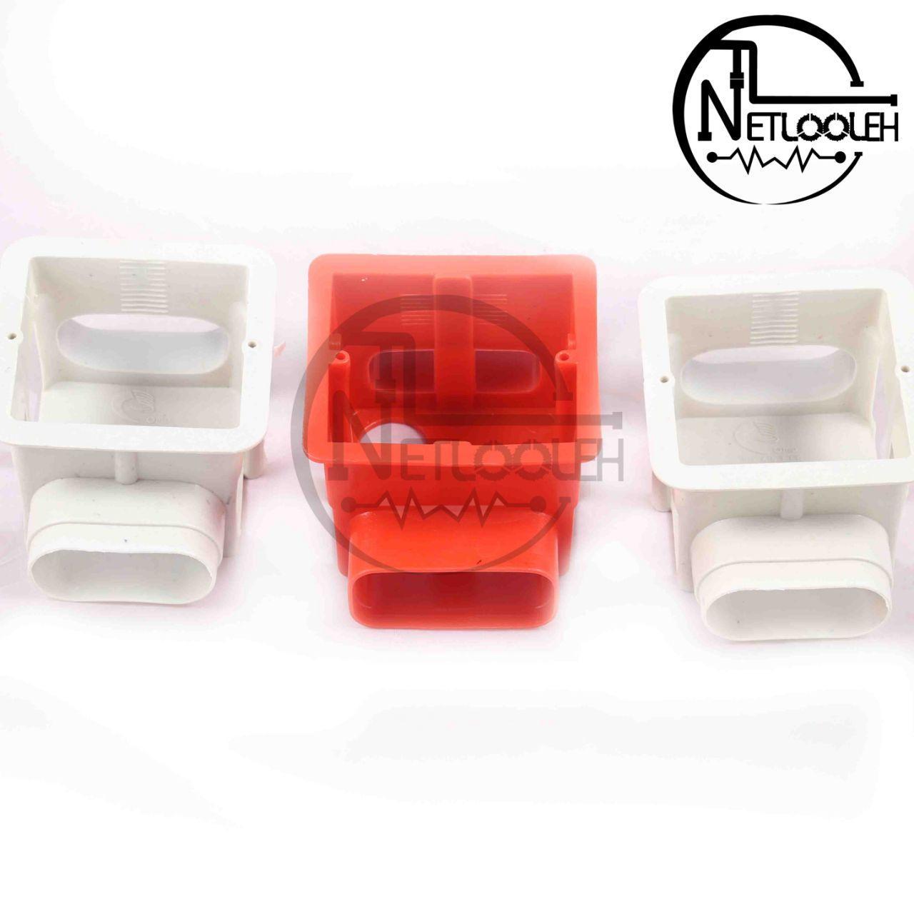 قوطی کلید عمق دار نشکن در رنگ های سفید و قرمز