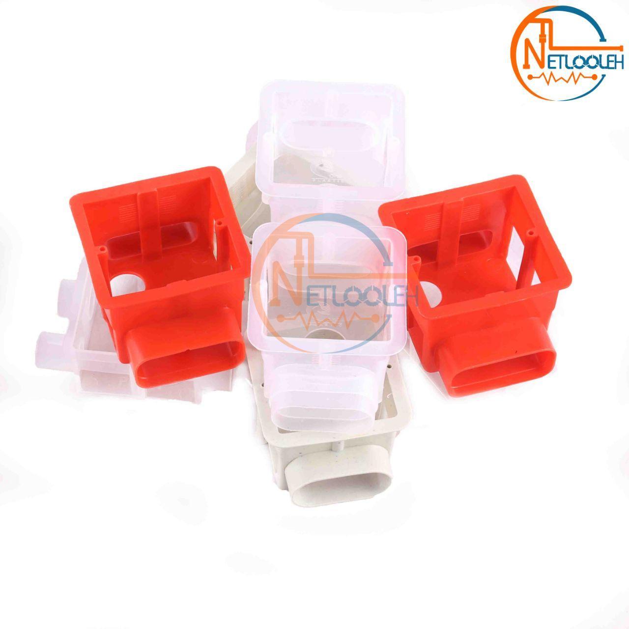 قوطی کلید مواد نو عمق 5 سانت در دو رنگ قرمز و سفید